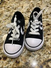 Converse All Star Chuck Taylor Infant/Toddler Boys Black Shoes~size 8