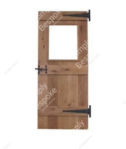 OAK DOORS - MADE TO MEASURE - ALL SIZES MADE ~ BESPOKE ~ GLASS OPENING ~ RUSTIC