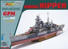 German cruiser Admiral Hipper 1:200 paper model kit 103cm long