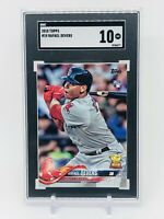 2018 Topps Series 1 #18 Rafael Devers RC SGC 10 Gem Mint Boston Red Sox