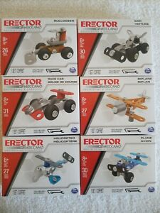 Erector By Meccano Engineering & Robotics Construction Set Lot (6) FREE SHIPPING