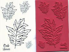 unmounted rubber stamps   Oak leaves set  5 images