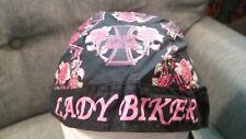 Lady Biker Doo Rag/ Skull Cap