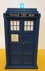 """DOCTOR WHO TARDIS (TALKING/LIGHTS UP) MONEY BOX - 8"""" TALL Working"""