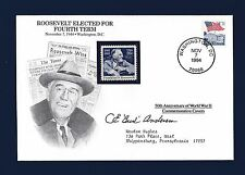 Bud Anderson signed WWII Ace first day cover