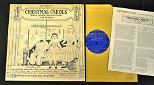 "10"" FOLK LP Andrew Rowan Summers Dulcimer Folkways 2002 Christmas Carols"