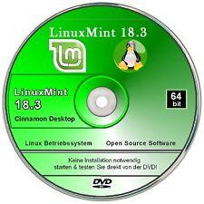 Linux Mint 18.3 Cinnamon Betriebssystem  DVD 64 bit System