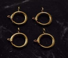 VTG Spring Ring Clasp Lot 4 Brass Metal Large Size 18mm Connector Pocket Watch