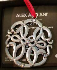 Alex and Ani PATH OF LIFE ORNAMENT Rafaelian Silver & Swarovski Crystals NIB