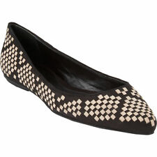 Women's Geometric Leather Flats