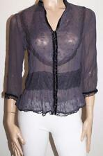 Hot Options Brand Midnight Crush Chiffon Blouse Top Size 12-M BNWT #ST42