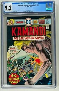 KAMANDI THE LAST BOY ON EARTH #34 CGC 9.2 NM (DC 1975) JOE KUBERT BRONZE AGE 🔑