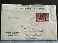 Gibraltar 1972 Queens Silver Wedding FDC with stamps enclosed stamp cover R31617