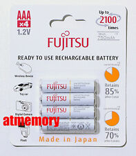 Fujitsu 800mAh AAA Precharge NiMH Rechargeable Battery 4pcs Sanyo Made in JAPAN