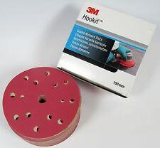 3M P220 Hookit Rouge Disques Abrasifs 150mm 15loch 316u - 100 Pièces #51192