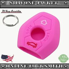 Pink Protective Rubber Case Silicone Cover Skin Jacket Fit BMW Remote Key