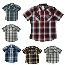 Levis Men's Short Sleeve Snap Slim Casual Button Up Levi's Shirts