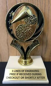 Cheerleading Trophy - Free Engraving - Assembly Required