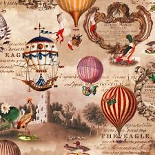 4 x Paper Napkins - Vintage Hot Air Balloons - Ideal for decoupage / napkin art