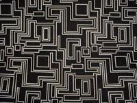 1-7/8Y Romo Kirkby K5164 Electro Maze Noir Black White Velvet Upholstery Fabric