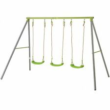TP Toys Tp523 Triple Metal Swing With Seats Children Outdoor Summer Green