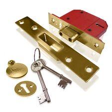 "Union (Assa Abloy)  Strongbolt BS 5 Lever Door Deadlock 75mm/3"" Polished L Brass"
