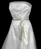 New IVORY Satin Wedding Dress Party Sash Tie Belt Tie Band Bridesmaid Bow