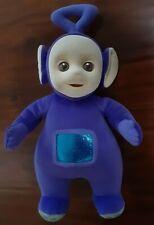 "1998 Eden Teletubbies TINKY WINKY 15"" Plush Doll Flocked Face Purple Vintage"