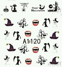 Halloween Nail Decals (water decals)  Halloween Nail art vampire nail art