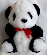 Kleiner Panda mit roter Schleife ca. 14 cm NEU
