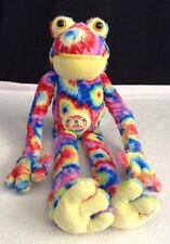 "Peace & Love Novelty co. Tie Dye 18"" Frog W/ PEACE SIGN Plush Stuffed Animal"