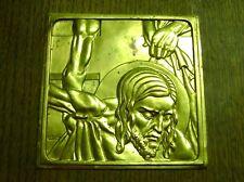 BAS RELIEF BRONZE DESCENTE DE CROIX JESUS SIGNE L . DAY