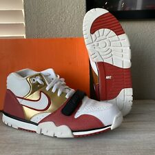 NIKE AIR MAX TRAINER 1 JERRY RICE BRICKLAYER SIZE 9.5 49ERS SUPER BOWL QS