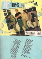 "(TJKB8) POSTER/ADVERT 11X8"" MADNESS - SWEETEST GIRL SONG WORDS FRAMED"