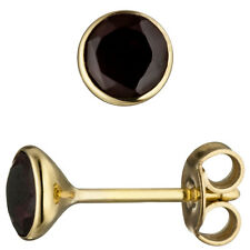 585 ECHT GOLD  *** Granat Ohrstecker 4 mm