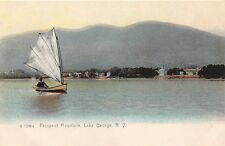 Lake George Ny Sailboat~Prospect Mountain~Rotograph #1298 Publ Postcard 1900s