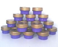 20 Tiny 1 tsp size PURPLE JAR GOLD CAP CONTAINER 3301 diy lip balm pot DecoJars