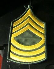 U.S. Army WWII Master Sgt Rank Patch (Arm)