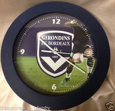 "GIRONDINS DE BORDEAUX QUARTZ 9.75"" ROUND WALL CLOCK SOCCER FOOTBALL FRANCE"