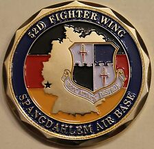 52nd Fighter Wing Spagdahlem Air Base Germany F-16 A-10 Air Force Challenge Coin
