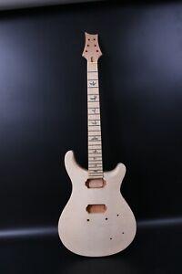1set Guitar Kit Guitar Neck 22fret Guitar Body Maple Mahogany Bird Inlay DIY