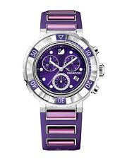 Swarovski Octea 1088675 Chrono Purple Dial Luxury Fashion Womens Swiss Watch