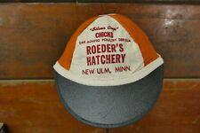 Vintage 1930s/1940s Roeder's Hatchery Chicks Wool Baseball Hat Cap New Ulm MN
