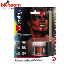 AC191 Red Devil Demon Liquid Latex Halloween Makeup Costume Special FX Make Up