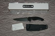 BROUS BLADES D2 T5 Fixed Blade Knife Acid Stone Wash G10 Handle LIMITED BNIB!