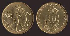 SAN MARINO 200 LIRE 1979 LOTTA CON IL LEONE FDC/UNC FIOR DI CONIO