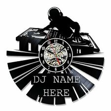 Personalized DJ Gift Wall Decor Vinyl Record Clock Art Home Design Music