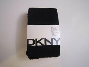 DKNY Diamond Texture Tights Sz Small Black NWT