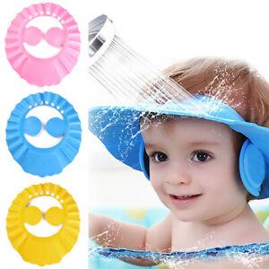 2021 Baby Kids Shower Caps Hair Wash Bath Shampoo Waterproof Protect Shield Hats