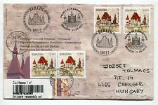 Romania Germany joint issue 2011 Fortified Church Biertan,Registered uprated FDC